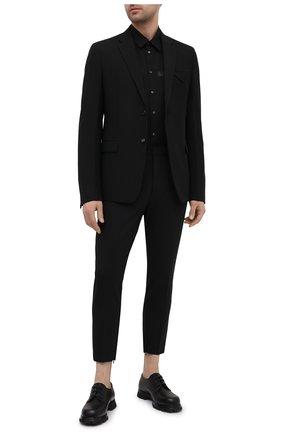 Мужская хлопковая рубашка DSQUARED2 черного цвета, арт. S74DM0514/S36275 | Фото 2