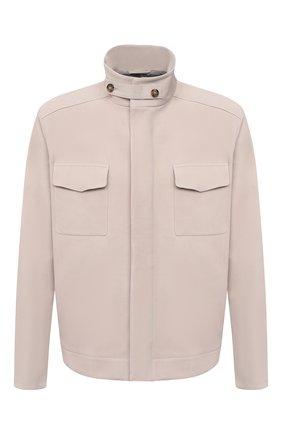 Мужская кожаная куртка LORO PIANA кремвого цвета, арт. FAL5143   Фото 1