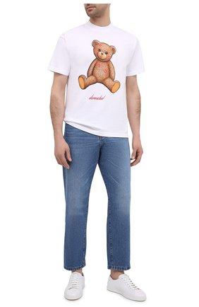 Мужская хлопковая футболка DOMREBEL белого цвета, арт. SM00CH/T-SHIRT | Фото 2 (Длина (для топов): Стандартные; Стили: Гранж; Принт: С принтом; Рукава: Короткие; Материал внешний: Хлопок)
