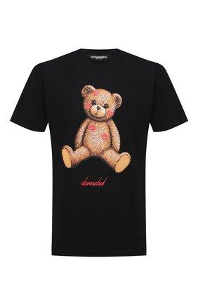 Мужская хлопковая футболка DOMREBEL черного цвета, арт. SM00CH/T-SHIRT   Фото 1 (Стили: Гранж; Принт: С принтом; Рукава: Короткие; Длина (для топов): Стандартные; Материал внешний: Хлопок)