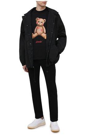 Мужская хлопковая футболка DOMREBEL черного цвета, арт. SM00CH/T-SHIRT   Фото 2 (Стили: Гранж; Принт: С принтом; Рукава: Короткие; Длина (для топов): Стандартные; Материал внешний: Хлопок)