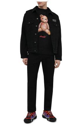 Мужская хлопковый лонгслив DOMREBEL черного цвета, арт. SM00CH/SWEATSHIRT | Фото 2