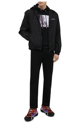 Мужской хлопковое худи LIMITATO черного цвета, арт. SHALAK0/H00DED SWEATSHIRT | Фото 2
