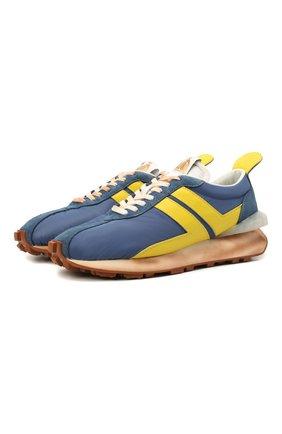 Мужские комбинированные кроссовки LANVIN голубого цвета, арт. FM-SKBRUN-NYL1-P21 | Фото 1