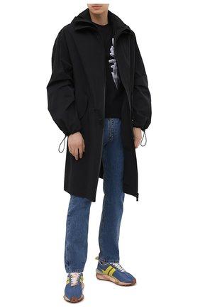 Мужские комбинированные кроссовки LANVIN голубого цвета, арт. FM-SKBRUN-NYL1-P21 | Фото 2