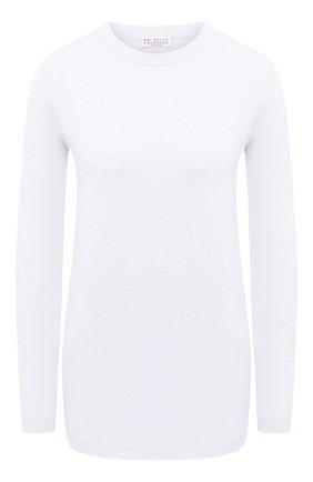 Женская хлопковый лонгслив BRUNELLO CUCINELLI белого цвета, арт. M0T18B0107 | Фото 1