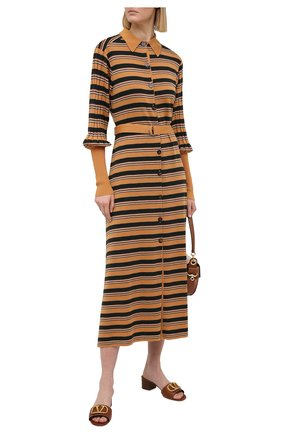 Женские кожаные мюли valentino garavani vlogo VALENTINO коричневого цвета, арт. VW2S0M60/HWS | Фото 2