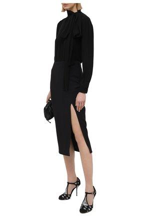 Женские текстильные туфли vally DOLCE & GABBANA черного цвета, арт. CD1540/AW027 | Фото 2 (Материал внутренний: Натуральная кожа; Подошва: Плоская; Материал внешний: Текстиль; Каблук тип: Шпилька; Каблук высота: Высокий)