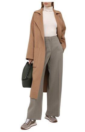 Женские текстильные кроссовки BRUNELLO CUCINELLI темно-бежевого цвета, арт. MZ34G1334 | Фото 2