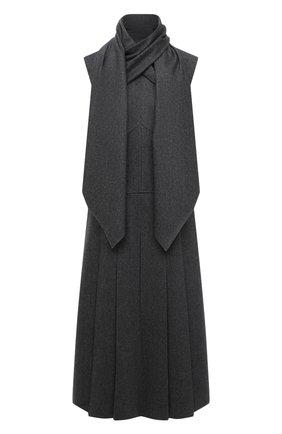Женское шерстяное платье FENDI серого цвета, арт. FDA919 A8GF | Фото 1