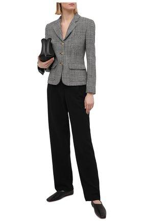 Женские шерстяные брюки GIORGIO ARMANI черного цвета, арт. 1SHPP0GB/T01GT | Фото 2