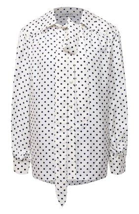 Женская шелковая блузка LANVIN черно-белого цвета, арт. RW-T0601I-4839-P21 | Фото 1