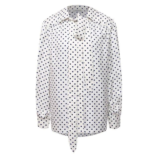 Шелковая блузка Lanvin