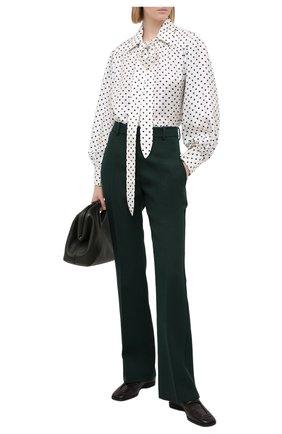 Женская шелковая блузка LANVIN черно-белого цвета, арт. RW-T0601I-4839-P21 | Фото 2