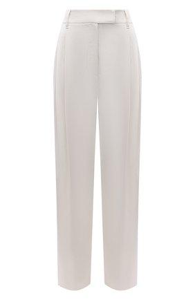 Женские брюки из вискозы и хлопка BRUNELLO CUCINELLI белого цвета, арт. M0H86P7512   Фото 1