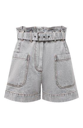 Женские джинсовые шорты BRUNELLO CUCINELLI светло-серого цвета, арт. MA095P5651 | Фото 1