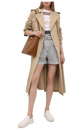 Женские джинсовые шорты BRUNELLO CUCINELLI светло-серого цвета, арт. MA095P5651 | Фото 2