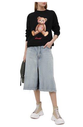 Женский хлопковый свитшот DOMREBEL черного цвета, арт. SM00CH/SWEATSHIRT/W | Фото 2
