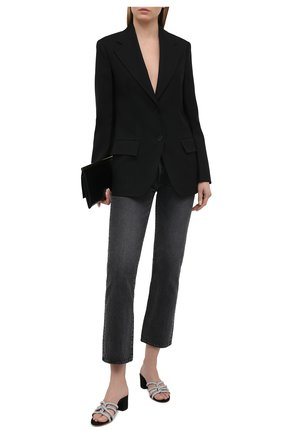 Женские кожаные мюли AQUAZZURA черного цвета, арт. MDTMIDS0-SUE-000 | Фото 2