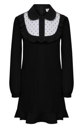 Женское платье REDVALENTINO черного цвета, арт. VR3VAX70/5MF | Фото 1