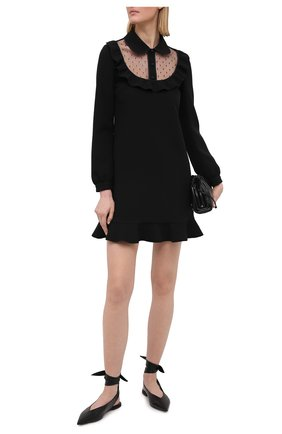 Женское платье REDVALENTINO черного цвета, арт. VR3VAX70/5MF | Фото 2