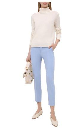Женские брюки REDVALENTINO голубого цвета, арт. VR3RB0B0/2EU | Фото 2