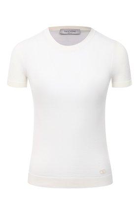 Женский шерстяной пуловер VALENTINO белого цвета, арт. VB3KC21T653 | Фото 1