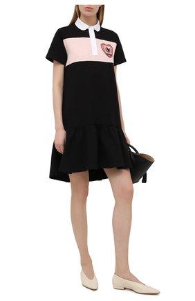 Женское хлопковое платье REDVALENTINO черного цвета, арт. VR3MJ06A/5Q6 | Фото 2