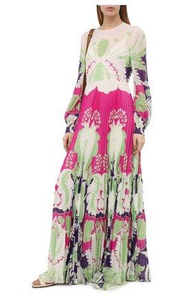 Женское шелковое платье VALENTINO фуксия цвета, арт. VB3VDBQ067W | Фото 2