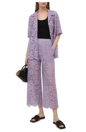 Женские брюки из вискозы и хлопка VALENTINO сиреневого цвета, арт. VB3RB4851EC | Фото 2