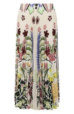 Женская шелковая юбка VALENTINO разноцветного цвета, арт. VB3RA74267F | Фото 1