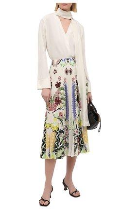 Женская шелковая юбка VALENTINO разноцветного цвета, арт. VB3RA74267F | Фото 2