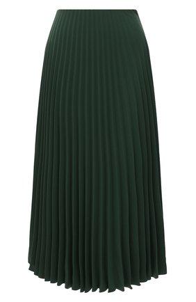 Женская плиссированная юбка VALENTINO зеленого цвета, арт. VB3RA74167E | Фото 1