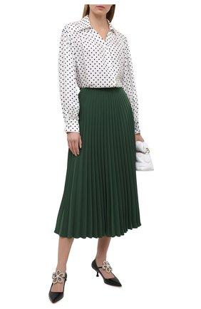 Женская плиссированная юбка VALENTINO зеленого цвета, арт. VB3RA74167E | Фото 2