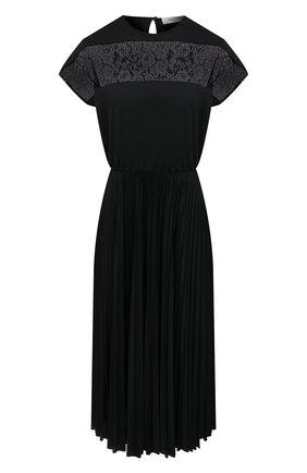 Женское платье VALENTINO черного цвета, арт. VB3MJ02U64F | Фото 1