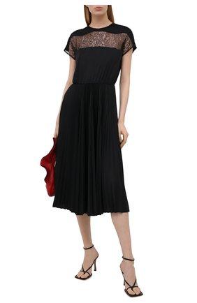 Женское платье VALENTINO черного цвета, арт. VB3MJ02U64F | Фото 2