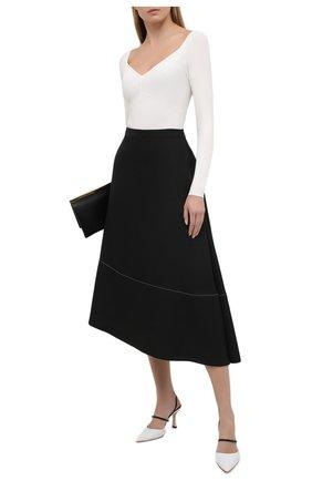 Женский пуловер из вискозы VALENTINO белого цвета, арт. VB3KCC04656 | Фото 2