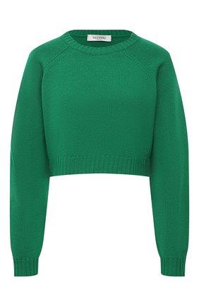 Женский кашемировый свитер VALENTINO зеленого цвета, арт. VB3KCB99652   Фото 1