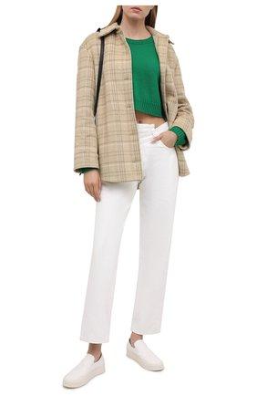 Женский кашемировый свитер VALENTINO зеленого цвета, арт. VB3KCB99652   Фото 2