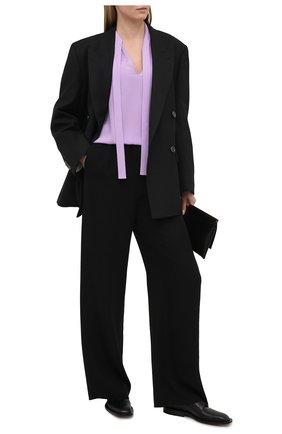 Женская шелковая блузка VALENTINO сиреневого цвета, арт. VB3AE5Q51MH | Фото 2