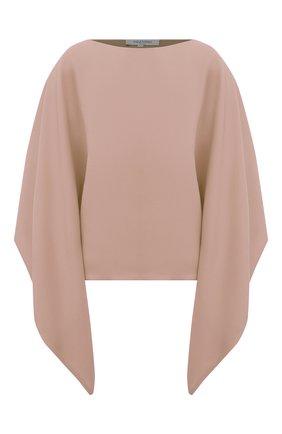 Женская шелковая блузка VALENTINO бежевого цвета, арт. VB3AE5L01MM | Фото 1