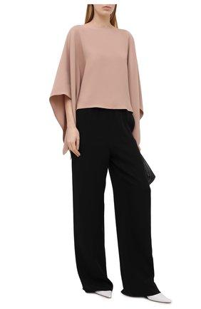 Женская шелковая блузка VALENTINO бежевого цвета, арт. VB3AE5L01MM | Фото 2