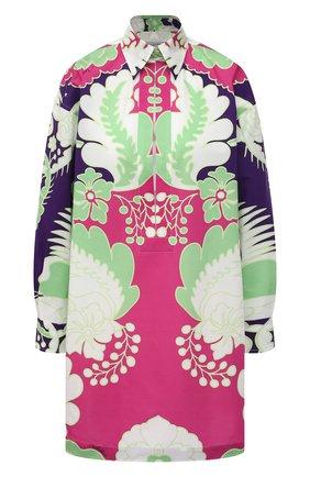 Женская хлопковая блузка VALENTINO фуксия цвета, арт. VB3ABG607A0 | Фото 1