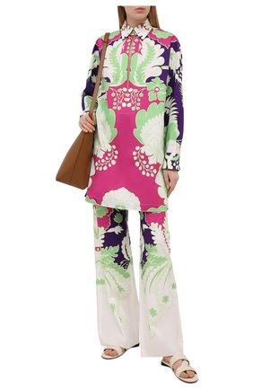 Женская хлопковая блузка VALENTINO фуксия цвета, арт. VB3ABG607A0 | Фото 2