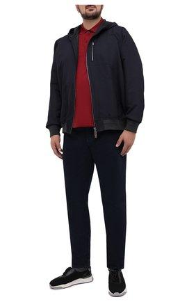 Мужское хлопковое поло  PAUL&SHARK бордового цвета, арт. C0P1013/C00/3XL-6XL | Фото 2