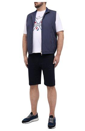 Мужские хлопковые шорты PAUL&SHARK темно-синего цвета, арт. C0P1025/C00/3XL-6XL | Фото 2