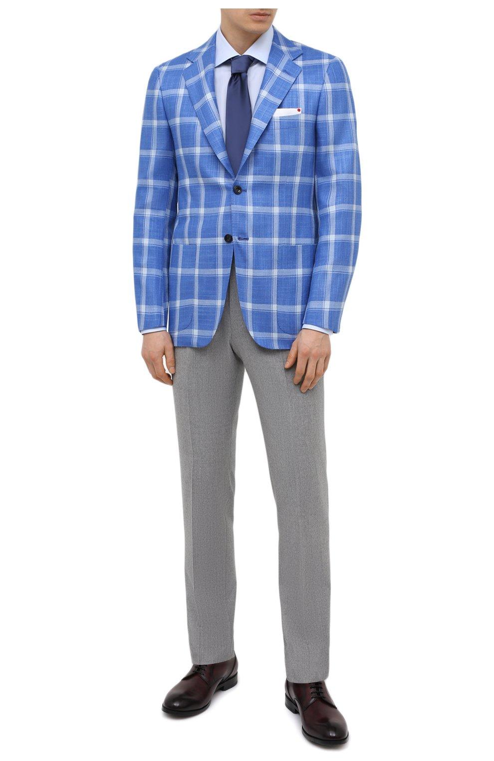 Мужской пиджак из кашемира и шелка KITON синего цвета, арт. UG81K06T02   Фото 2