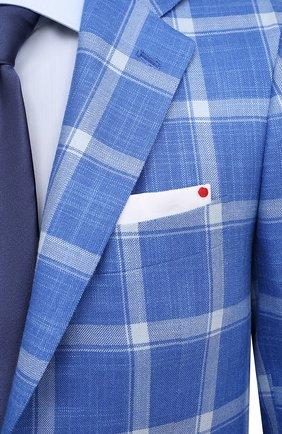 Мужской пиджак из кашемира и шелка KITON синего цвета, арт. UG81K06T02   Фото 5