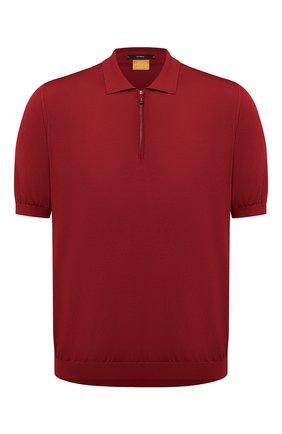 Мужское шелковое поло SVEVO красного цвета, арт. 3501/BSE20L/MP35 | Фото 1