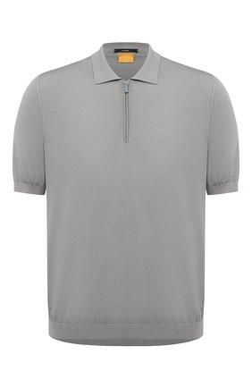 Мужское шелковое поло SVEVO серого цвета, арт. 3501/BSE20L/MP35 | Фото 1